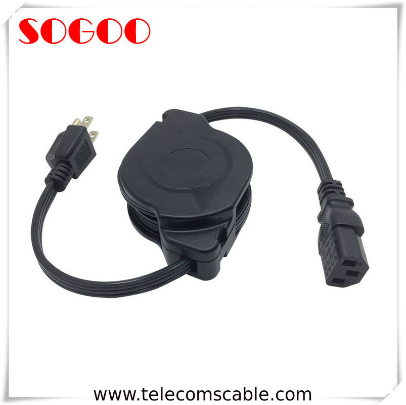 Custom Length Retractable Power Cord / Power Cable Assembly For Hair Straightener supplier