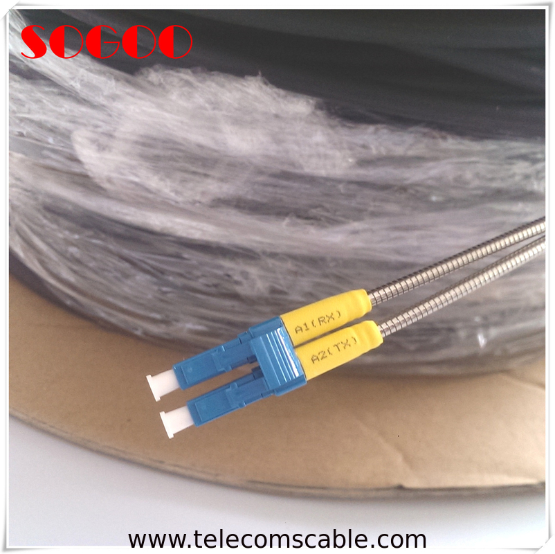 Outdoor Duplex Fiber Opitc Patch Cord PDLC-DLC Waterproof Single Mode supplier