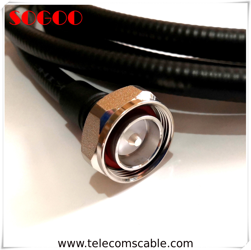 4.3-10 RF Jumper Cable Connector 7/16 Din Male For 1/2 Super Flexible Cable supplier
