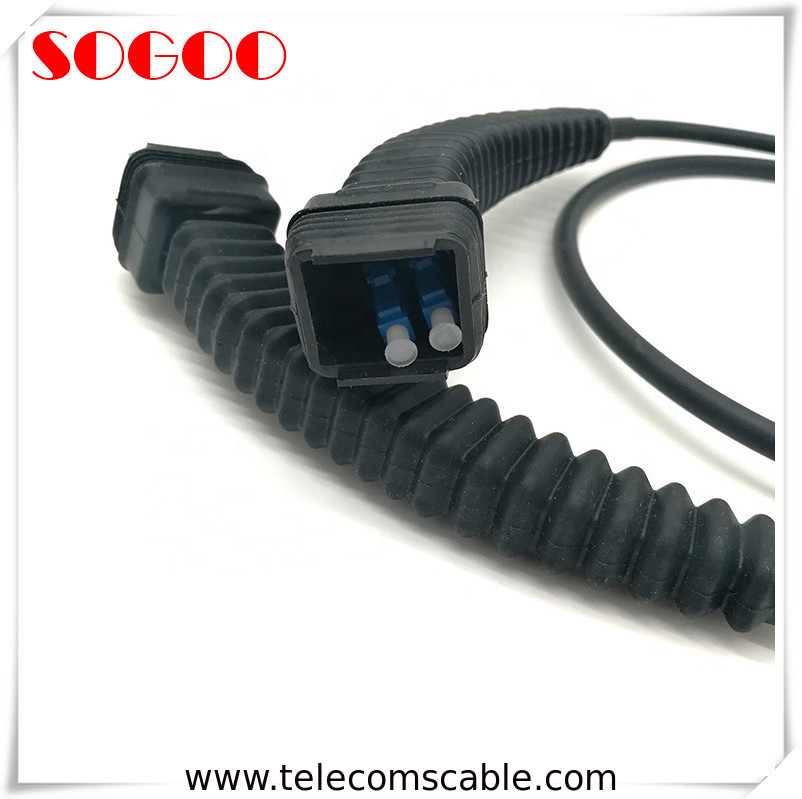 CPRI Fiber Optic Patch Cord , Outdoor Fiber Optic Patch Cable With NSN Boot DX LC Connector supplier