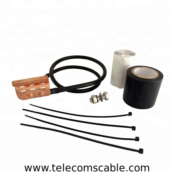 Standard Universal Grounding Kit For 1/4 3/8 Inch Corrugated Braided Coaxial Cable supplier
