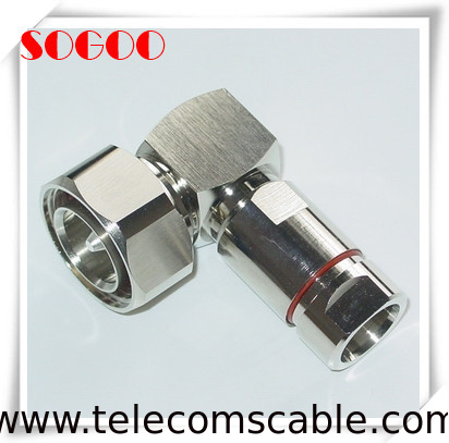 "Precision 7/16 DIN Right Angle Coaxial Connector For 1/2"" Superflex Feeder Cable supplier"
