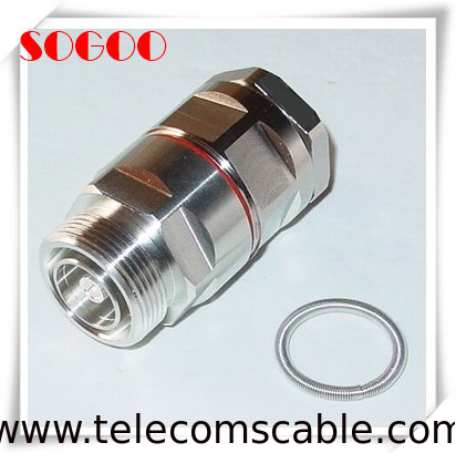 "Metal 7/16 DIN Feeder Cable Connector For 7/8"" LDF5-50A Feeder Cable supplier"
