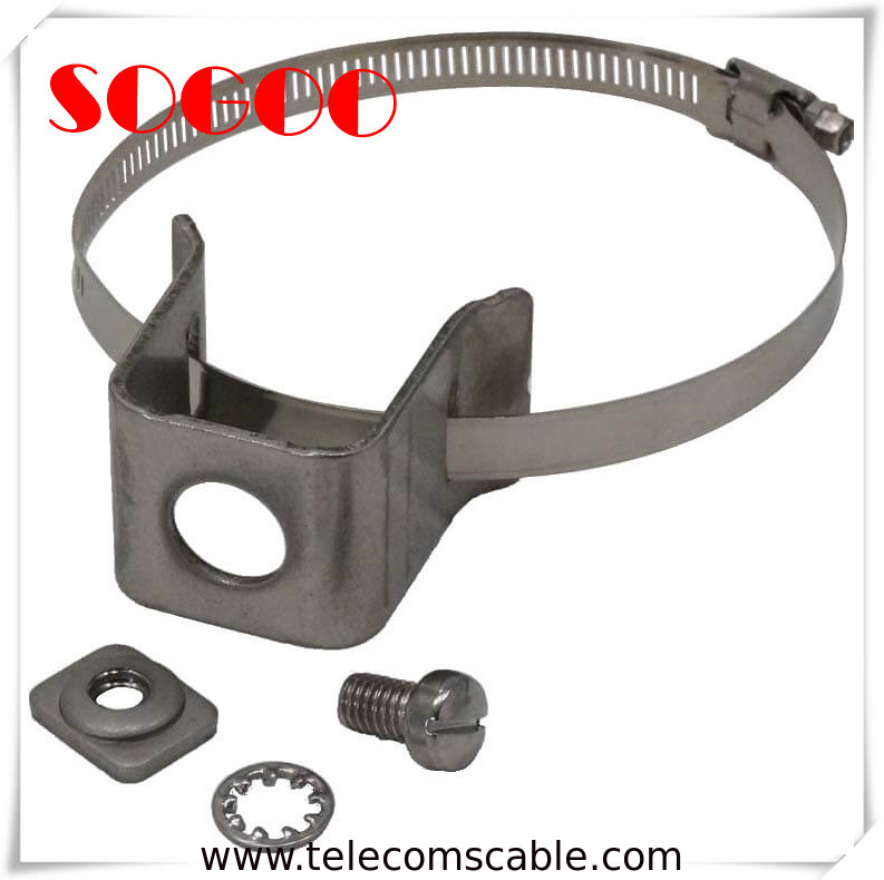 Double Hole Type Coax Cable Standoff Brackets / Standoff Clamp Sus304 Material supplier