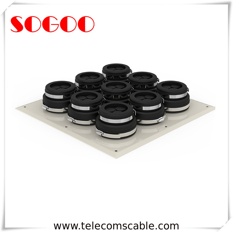Black Rubber Seal Cable Entry Plate Aluminum Alloy Wall Entry For Tower System supplier