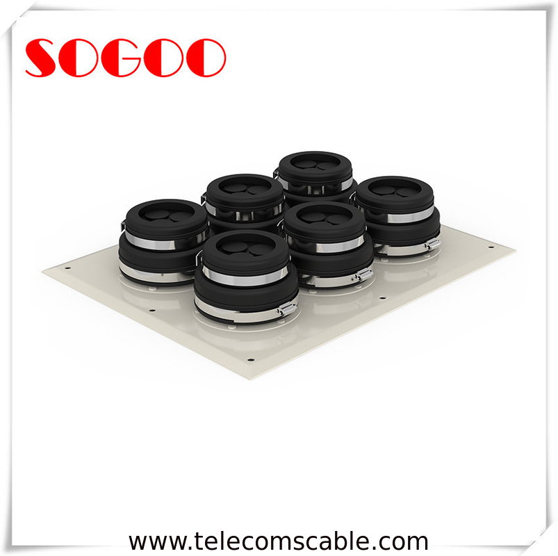 6 Panel Cap Cable Entry Boots Waterproof Feeder Window For Different Diameter Coaxial Cable supplier