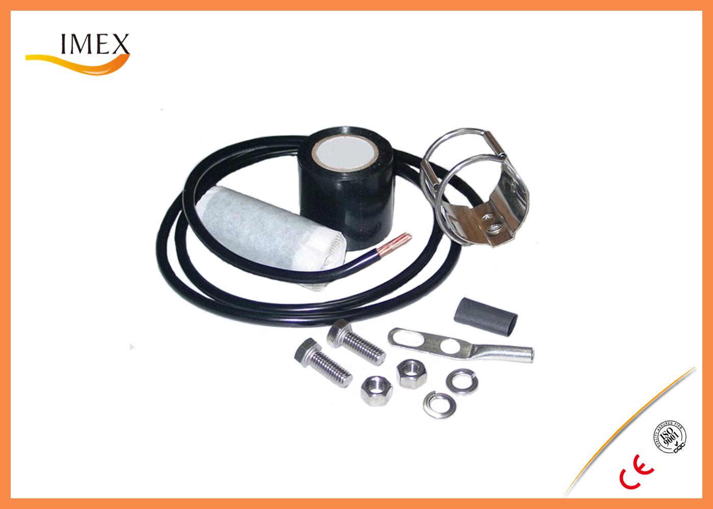 Grounding Kit For 1/2 in coaxial cable for 1/4'' 1/2'' 1-5/8'' feeder cable