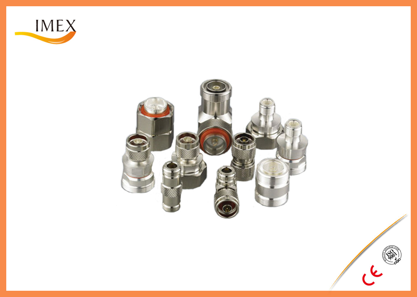 RF DIN male female feeder connector 7/16 DIN solder type male plug feeder cable coaxial rf connector