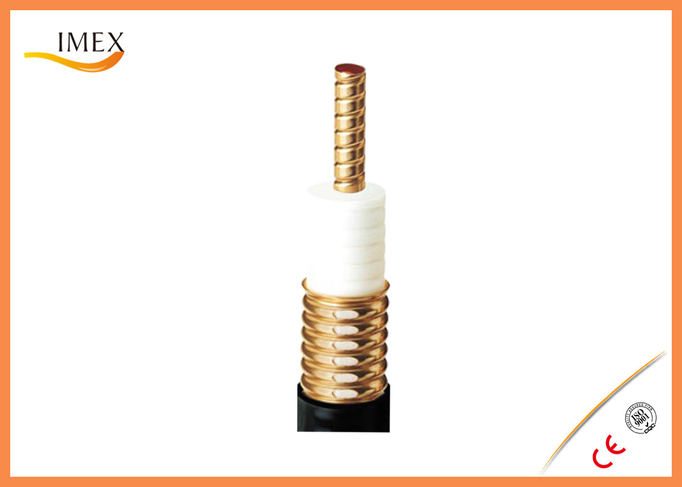 "Coupling mode 1-5/8"" Leaky Corrugated 50ohm Coaxial Cable, 1/2"" RF Leaky Feeder Cable with low loss"