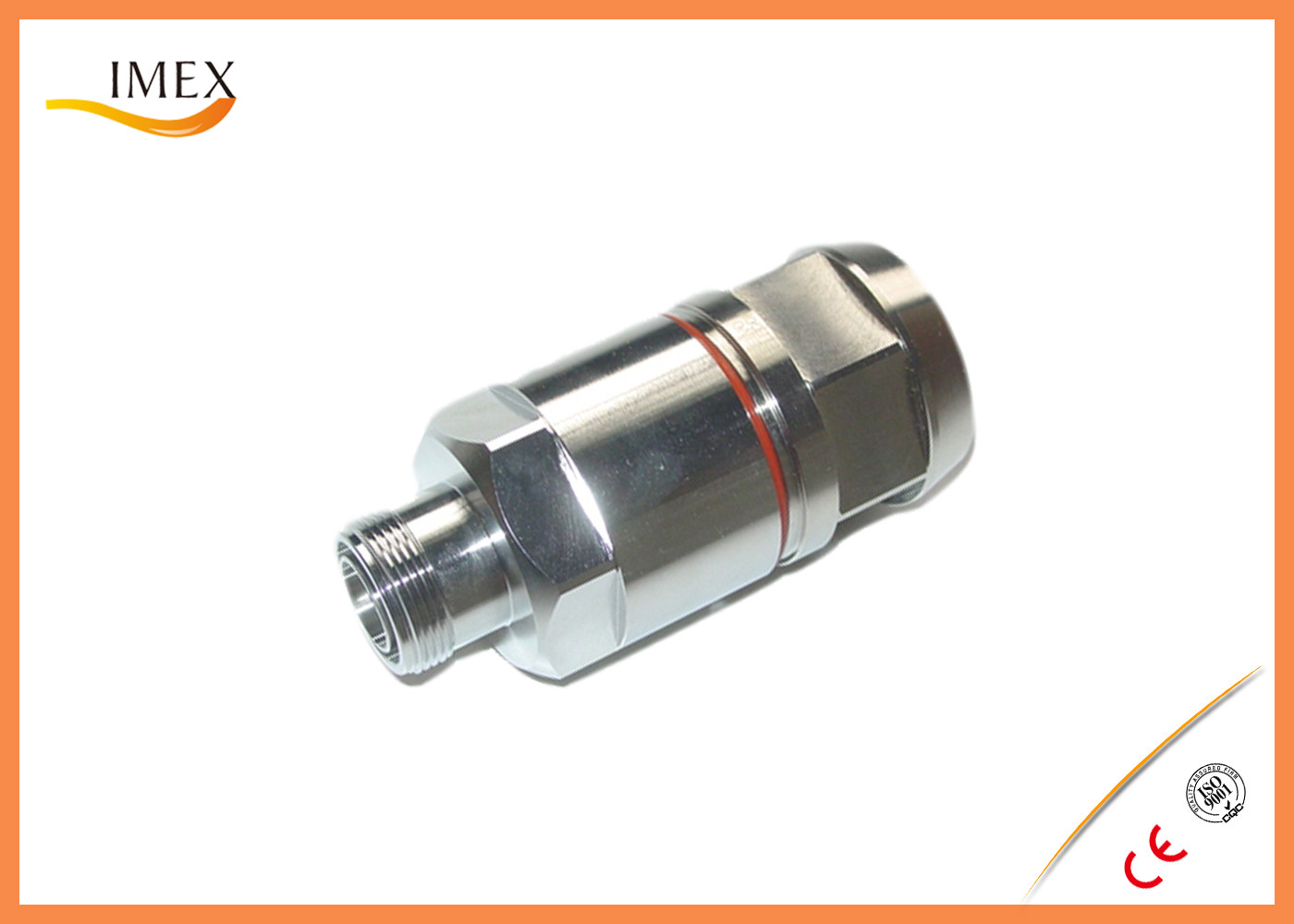 """DIN Female straight connector for 1-1/4"""" RF Coaxial foamcable feeder 4.3-10 coaxial connector 7/8"""" RF feeder cable"""