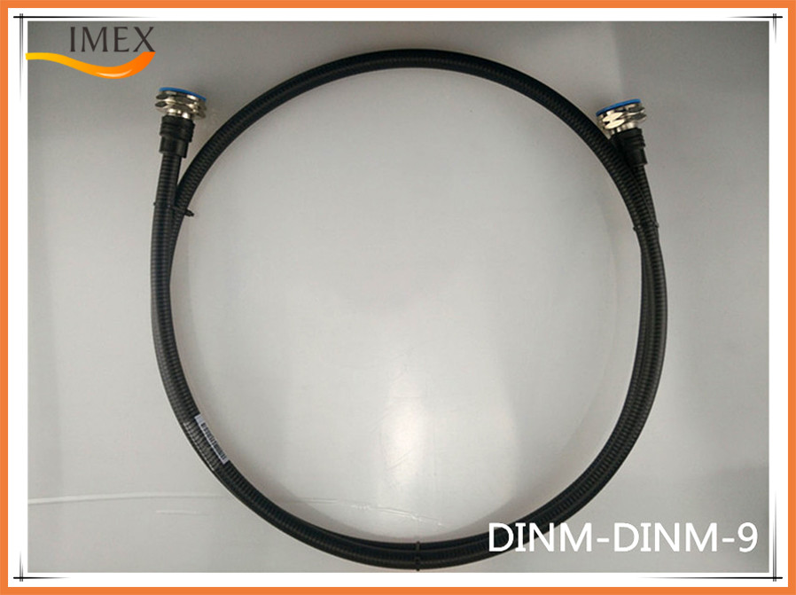 """RF Jumper Feeder Cable Low PIM 1/2"""" superflex feeder jumper cable with 7/16 DIN male to DIN female connector"""