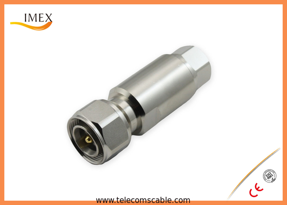High Performence RF 4.3-10 Type Connector Male / Female for telecommunication feeder cable