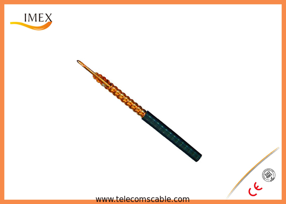 Low Attenuation Air Coaxial Cable Black Jacket for Radar Systems