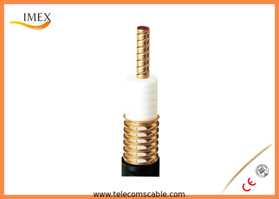 "Low Loss 50ohm Foamed Dielectric leaky cable, 1-5/8"" inch Coupling mode Leaky Feeder cable for Tunnels, Mines, Railways"