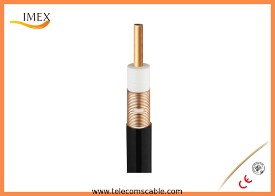 "Telecommunication Leaky Coaxial Cable Radiating Mode, 1-1/4"" inch 50 ohms Corrugated RF Leaky Feeder cable"
