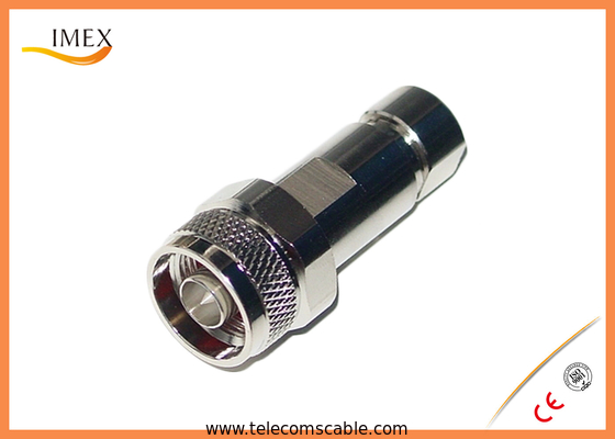 """50ohm Straight Clamp N Type RF Connector for 1/4"""" Superflex Corrugated Cable"""