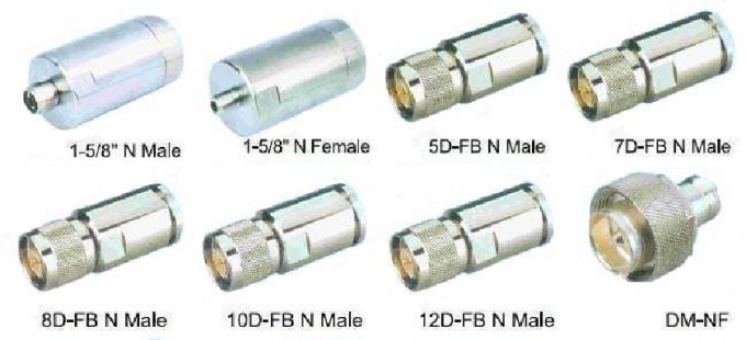 "High quality N female connector for 3/8"" feeder cable IP67 RF 7/8"" feeder cable connector N type RG58 connector"