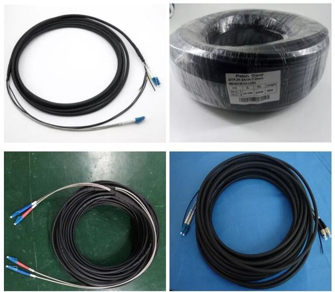 2 Core CPRI Fiber Cable DLC / DLC GYFJH Optical Cable Assembly