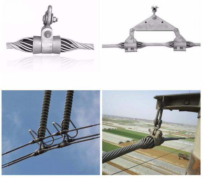 ADSS OPGW Cable Fixed Suspension Clamp / Steel Fiber Cable Suspension Clamp