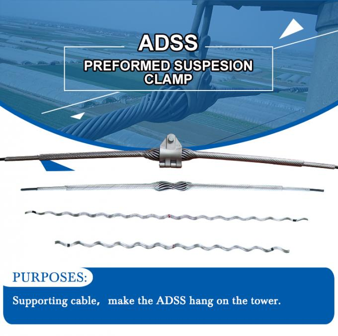 ADSS preformed fiber cable suspension clamp