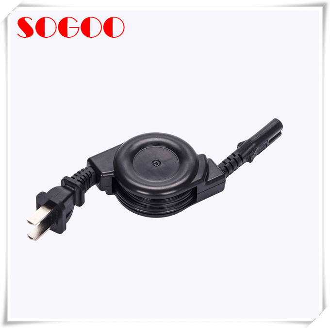 Custom Length Retractable Power Cord / Power Cable Assembly For Hair Straightener